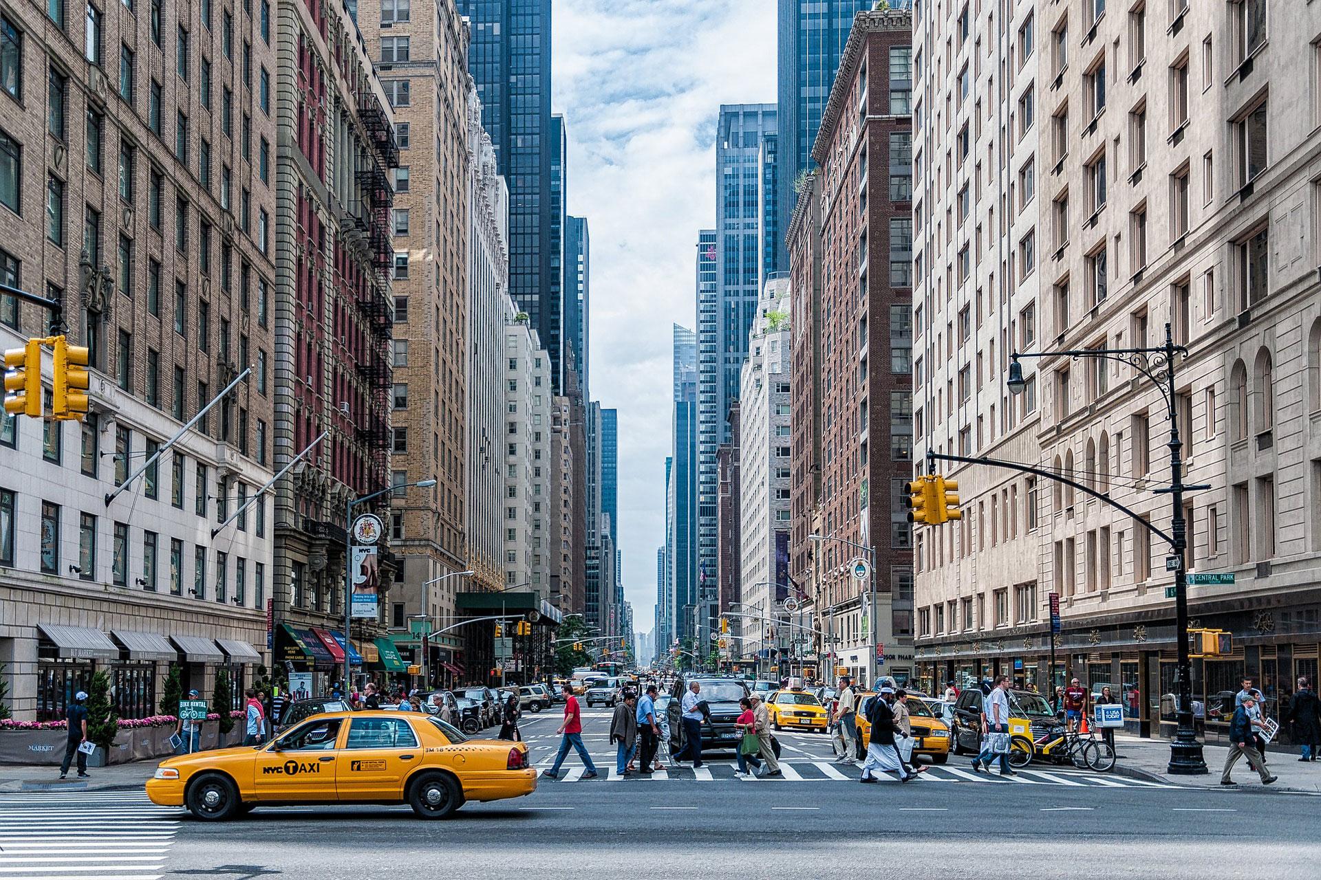 Rue de New York avec Taxi Jaune