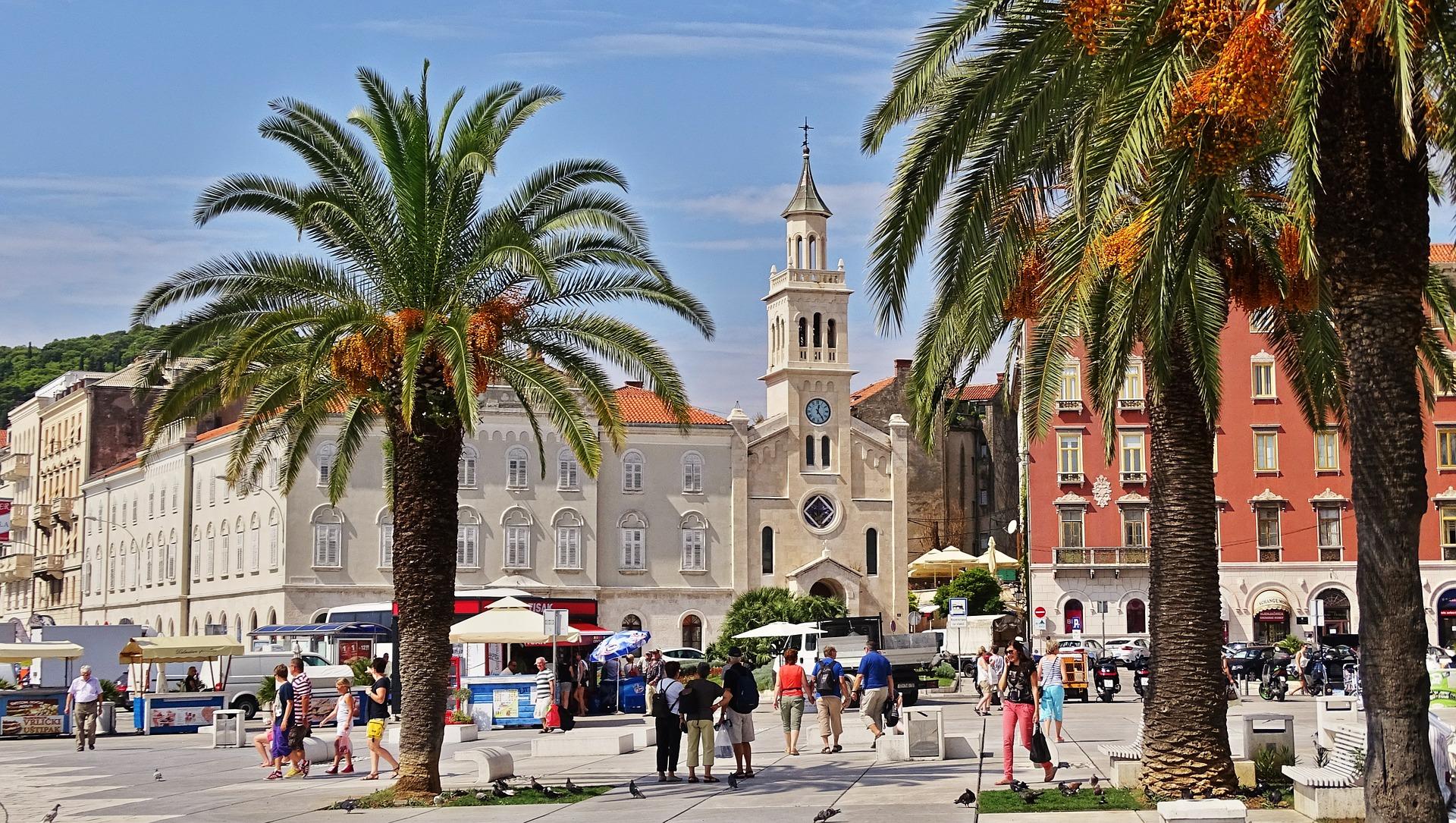 Vue de Split, Croatie