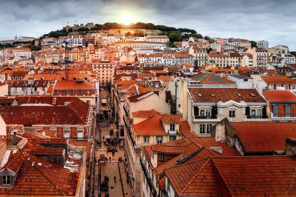 Vue du quartier Alfama, Portugal