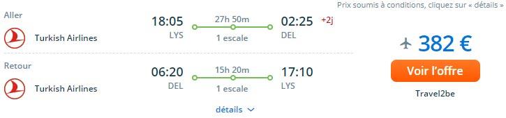 Bon plan Lyon Delhi 382 €