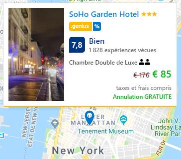 Bon Plan Hôtel à New York