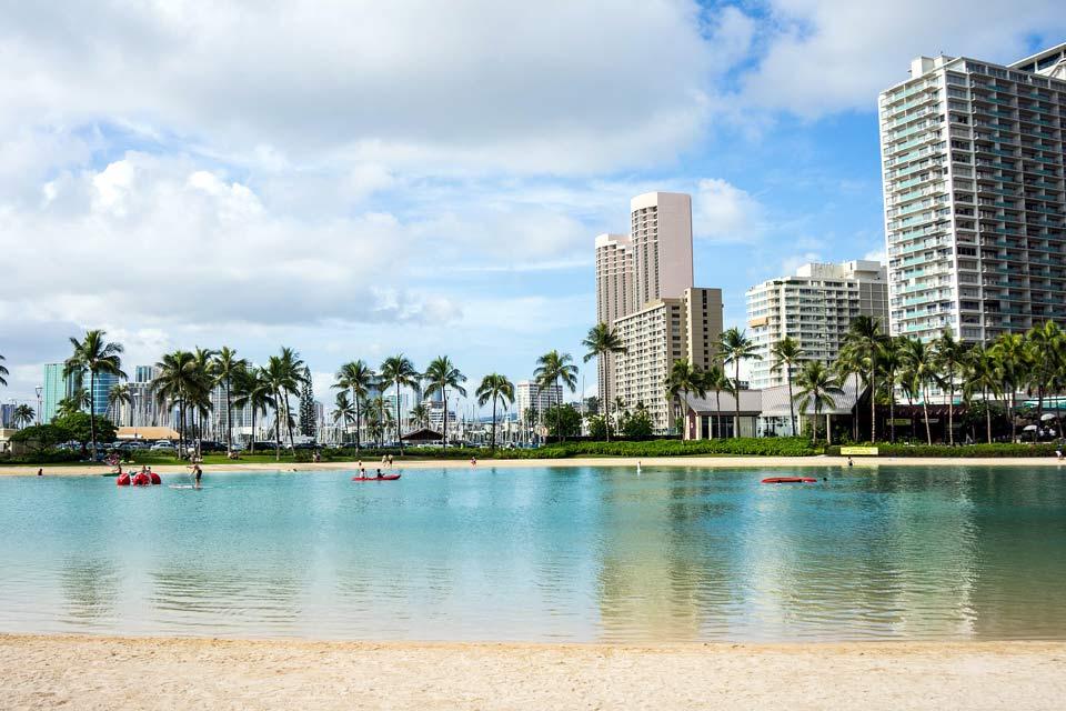 Waikiki Beach à Hawaii